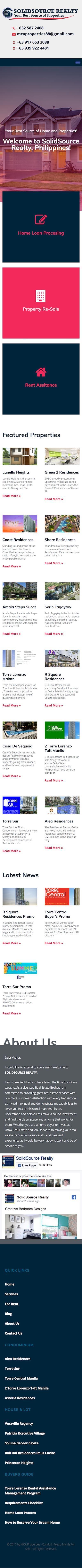 Real State Website Design Mobile