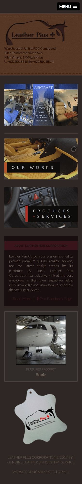 brochure company website mobile