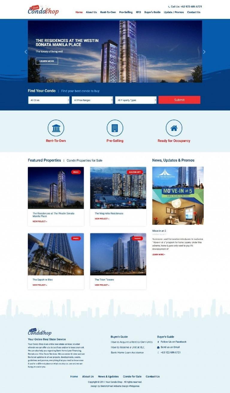 Real State Website Design development