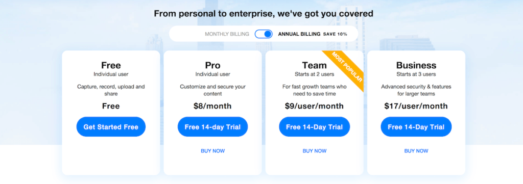 CloudApp Team Pricing Lifetime Subscription Promo